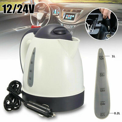 1000ml DC 24V Car Kettle Portable Water Heater Travel Mains Auto for Tea Coffee