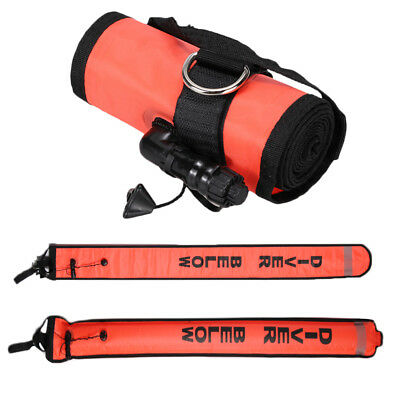 OTG Scuba Diving All Sealed Sausage Signal Tube Surface Marker Buoy Nylon Diver