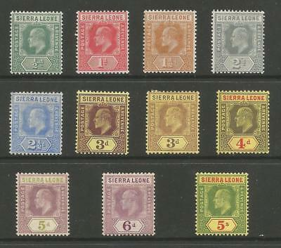Sierra Leone Evii Fine Mint Selection To 5/- See Scans