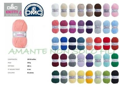 Gomitolo lana da 100 gr. art. DMC KNITTY 4 super morbida baby vari colori