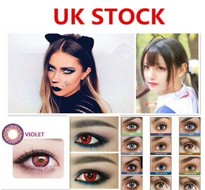 HOT Coloured Contact Lenses Crazy Halloween Cosmetic Makeup Cosplay lens 12 TYPE