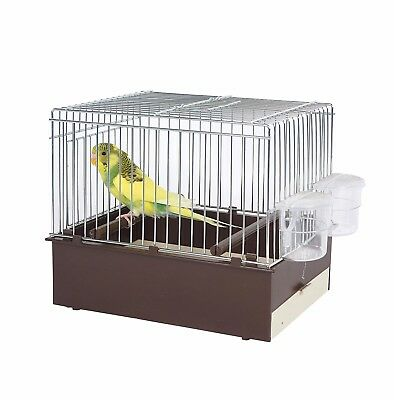 Pet Ting Brown Bird Transport Cage - Travel Cage - Finch - Canary - Budgie Ect