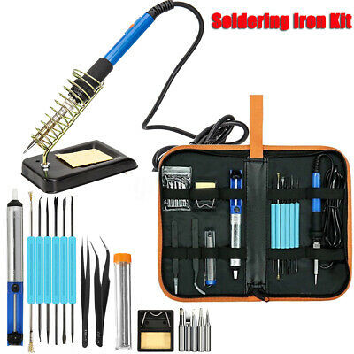 New Soldering Iron Kit Electronics Welding Irons Tool 60W Adjustable Temperature