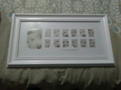 Never used white baby/infant picture frame Baby's First Year