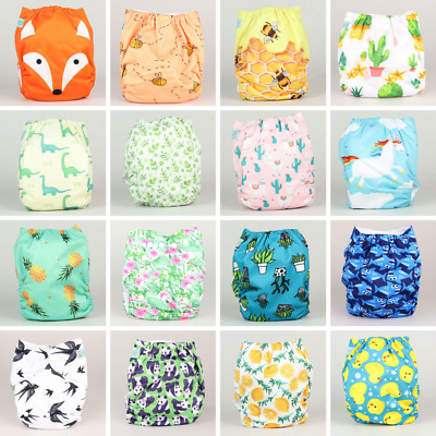 10 Pack of Alva Baby One Size Cloth Nappies | Pack of 10 Reusable Nappies