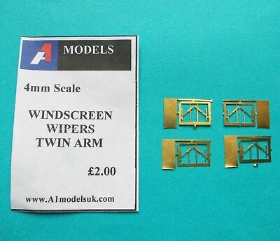 4mm Scale [00] Detailing Part –WINDSCREEN WIPERS - TWIN ARM
