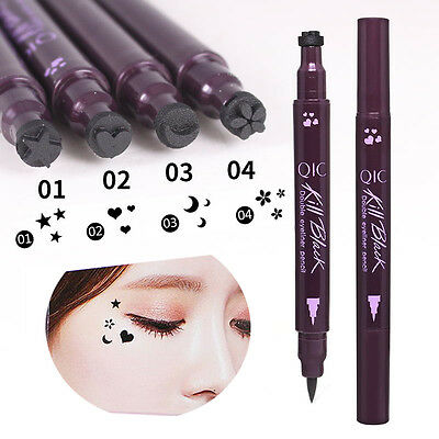 Double Head Waterproof Liquid Eyeliner Tattoo Stamp Liner Pencil Makeup Trendy