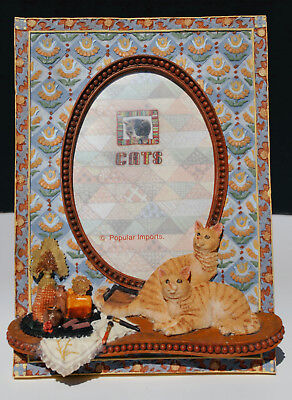 3D Hand Painted Cats Picture Photo Frame
