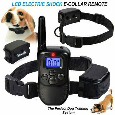 Electric Trainer E-Collar Remote Pet Safe Dog Shock Collar Training Waterproof U