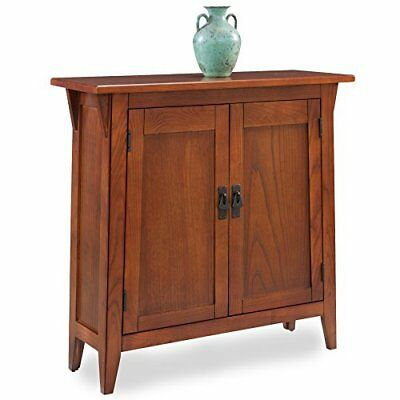 Home Classic Hall Stand Wooden Construction w/ 2 Cabinets & Ash Oak Veneers
