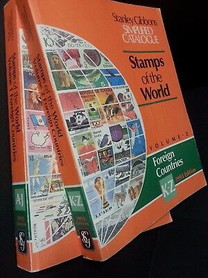 Stanley Gibbons Stamps of the World 1993 Simplified Catalogue Volumes 1 & 2