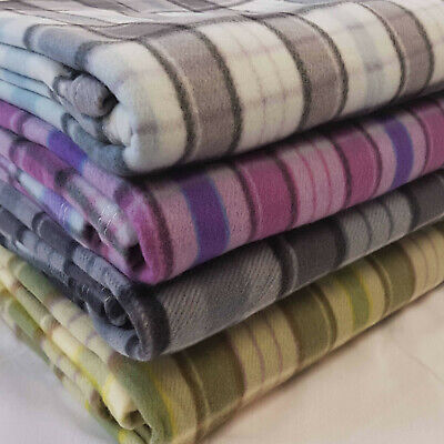Tartan Fleece Blanket Sofa Throw Bed Throwover Cover EXTRA Large Sizes In Stock