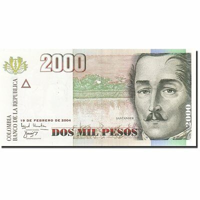 [#267188] Colombia, 2000 Pesos, 2001, KM:451i, 2004-02-19, FDS