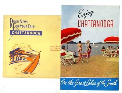 Enjoy Chattanooga Brochure & Rush News Mailing Envelope 1940's Tennessee
