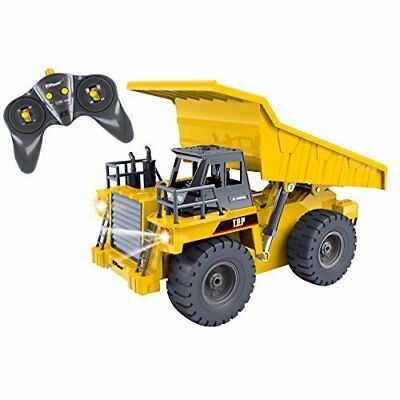 RC Dump Truck 6 Channel Construction Dumper with Lights & Sounds Remote Control