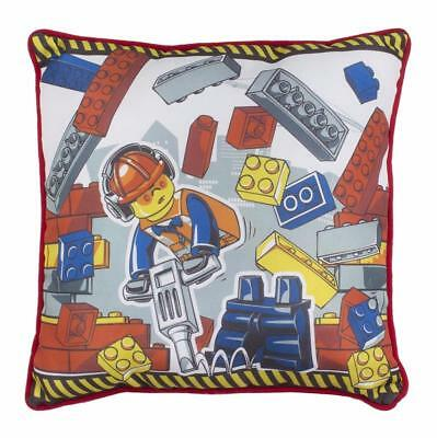 Lego City Demolition Reversible Childrens Cushion Boys Kids Bedroom Official New
