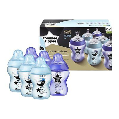Tommee Tippee Decorated Bottles  Love You to the Moon and Back   260ml x 6  0m+