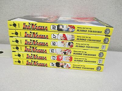 Lot of 6 InuYasha Manga Graphic Novels by Rumiko Takahashi #12, 13, 15-18