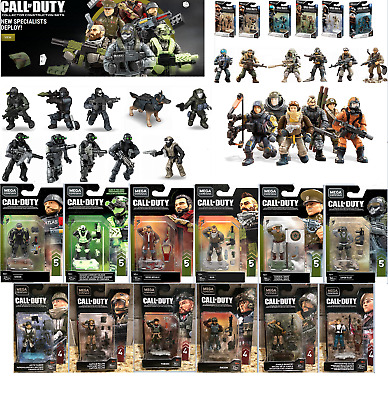 Huge Lot Of Mega Call Of Duty Series 1 Specialists And Wwii & Zombie Minifigures