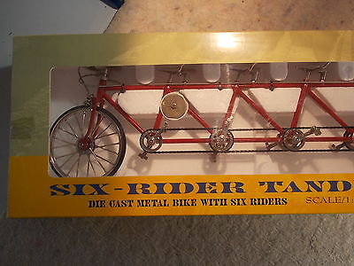 New and Boxed MY Die Cast model Six Rider Tandem Bike 1:10 scale
