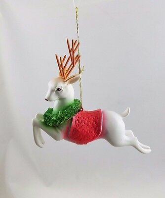 Vintage-style REINDEER Ornament Nostalgic Christmas NEW 1950's Reproduction