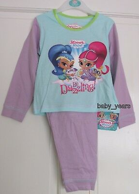 Girls Shimmer And Shine Pyjamas Kids Childrens Genie Character Sleepwear New