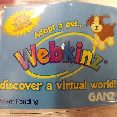 Webkinz Pink & White Dog HM228 NEW Unused CODE ONLY No Plush No Shipping