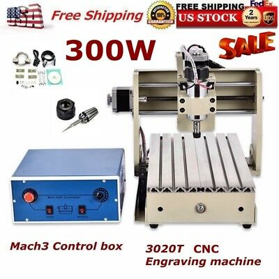 CNC 3020T Router Engraver/Engraving Drilling and Milling Machine 110V