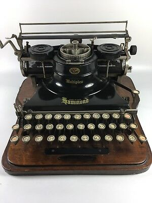 1916 Hammond Multiplex  Antique Typewriter with Cover Excellent condition