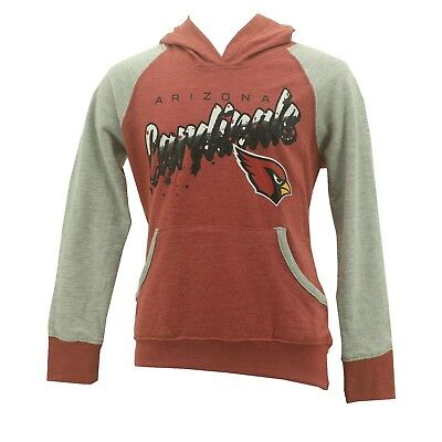 Youth Girls Arizona Cardinals NFL Hooded Light Weight Sweatshirt New With Tags