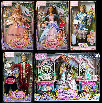 Erika Barbie Doll Anneliese Dominick Princess and the Pauper Ken Wedding Dent ""