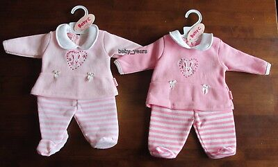 Premature Baby Girls Outfit Soft Pink Fleece Trouser Jumper Top Set 3-5Lb 5-8Lb