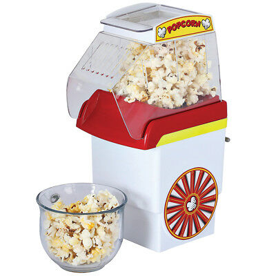 NEW Hot Air Popcorn Popper - Dishwasher Safe Top Section 6 - 8 Cups Per Batch