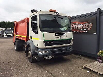 2007 57 Daf 14 ton RCV farid body and trade bin lift Auto waste recycling