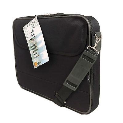 """15.6"""" Black Laptop Notebook Bag Carry Case Cover 2 Compartments Urban-Factory"""