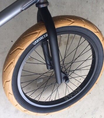 20 inch VANDALS 2.4 BMX Tyres Fat WHITEWALL 1 x 20 x 2.40 SALE RRP £27.99