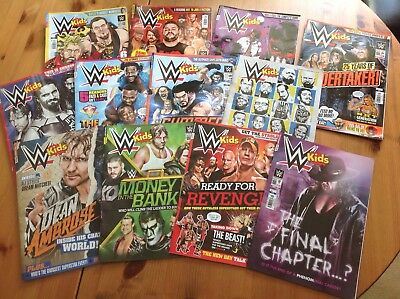 Official WWF/WWE Kids Magazines Various 2015 - 2016 (Listed in description) Look