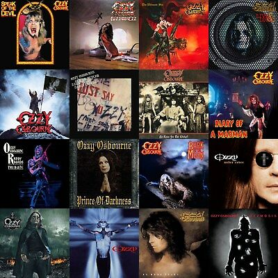 Ozzy Osbourne Discography 12x12 Borderless Album Cover Collage Print Poster