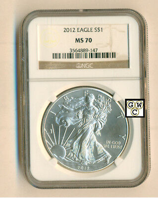 2012 Eagle S $1 Fine Silver Coin  NGC Graded MS70 (OOAK)