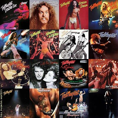 Ted Nugent Discography 12x12 Borderless Album Cover Collage Print Poster