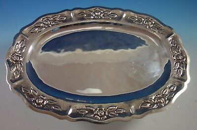 "Aztec Rose by Maciel Mexican Sterling Silver Serving Platter 16 3/4"" (#1862)"