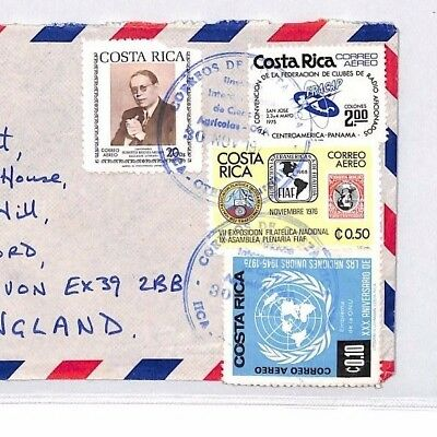 BQ321 Costa Rica Commercial Airmail Cover {samwells}PTS