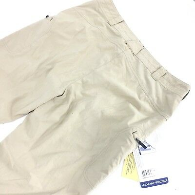 EX OFFICIO Nomad Women's Beige Relaxed Roll Up Pants Size 14 NWT