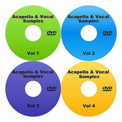 Acapella Loops & Royalty free vocal samples - 18+GB on 4 DVDS