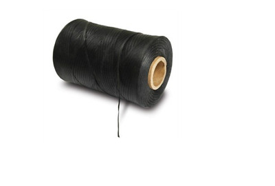 Military Waxed Lacing Tape, 500 Yard Spool 25lbs test, Black
