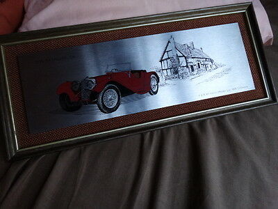 Jaguar Vintage Wall  Plaque Verygood Condition