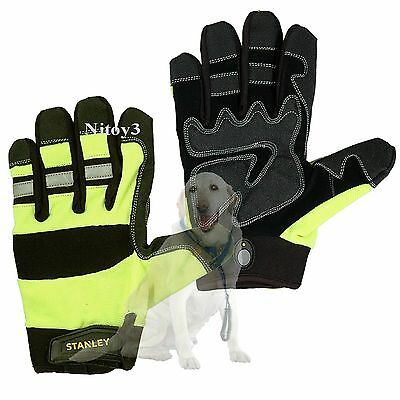 Stanley High-Visibility Padded Grip Work Gloves Unisex Large