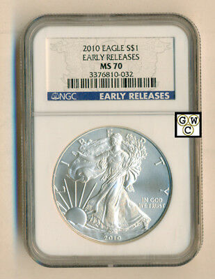 2010 American Eagle S $1 Early Releases NGC Graded MS70 Fine Silver Coin(OOAK)
