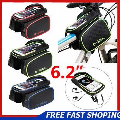 "6.2"" Bicycle Cycling Frame Bag Pannier Tube Pouch Touch Screen Bike Phone Holder"