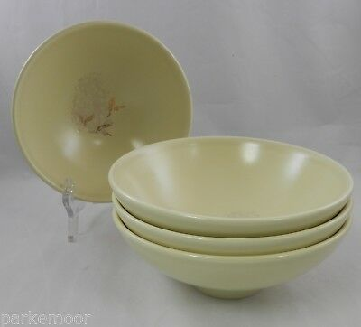 PV02015 Mid-Century Russel Wright Knowles China SEEDS LOT OF 4 Deep Cereal Bowls